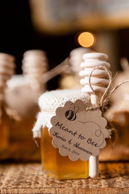 "Meant to ""Bee"" honey wedding favors - so adorable!"