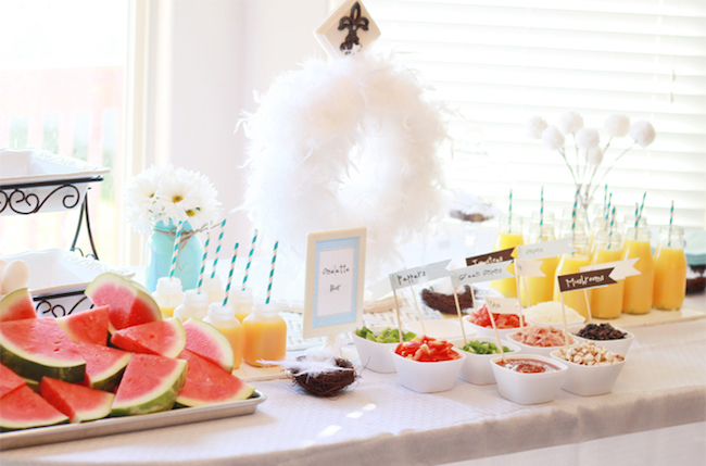 An omelette bar would be so fun to do for a brunch party!