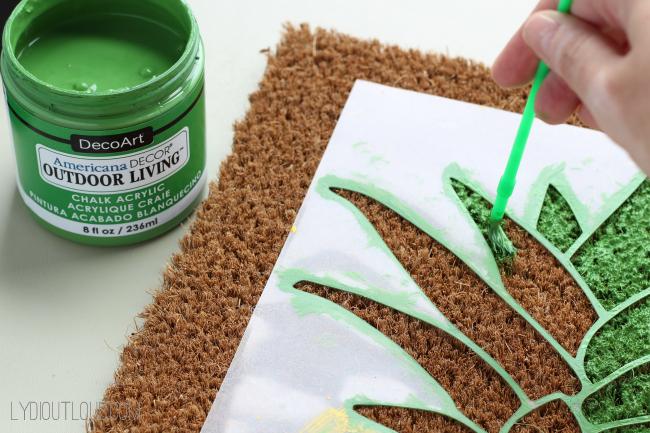 DIY Pineapple Doormat & DIY Pineapple Doormat - Lydi Out Loud pezcame.com