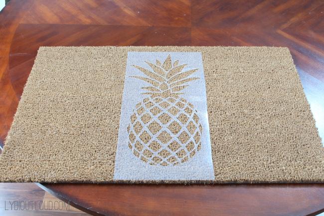 Pineapple Doormat Stencil