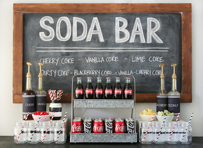 I love the idea of a soda bar for a party! So creative!