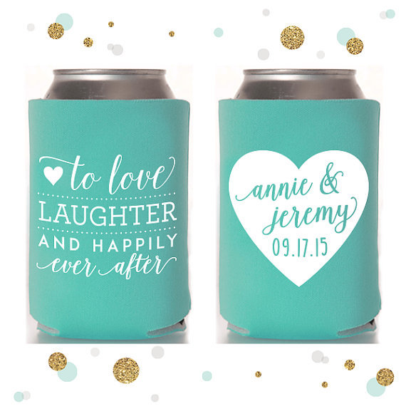 These Beer Koozies Would Make Such Cute Wedding Favors