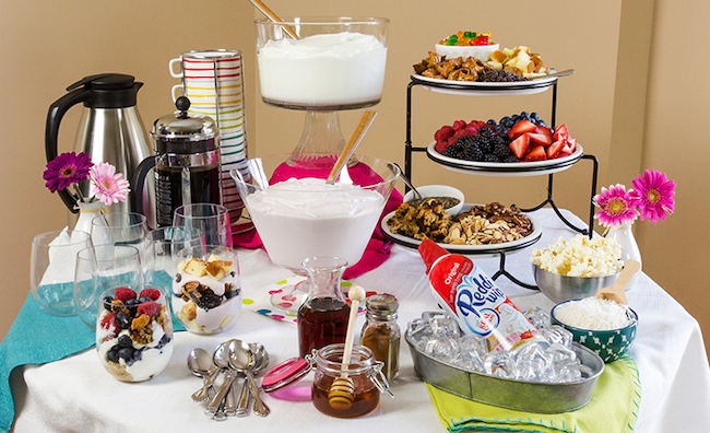A yogurt parfait bar would make such a great brunch!