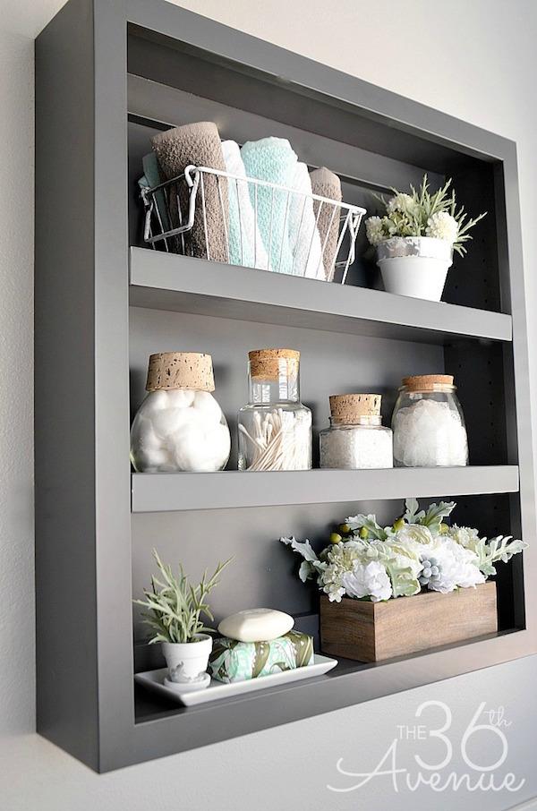 I Love This Bathroom Shelf And The Shelf Decor!