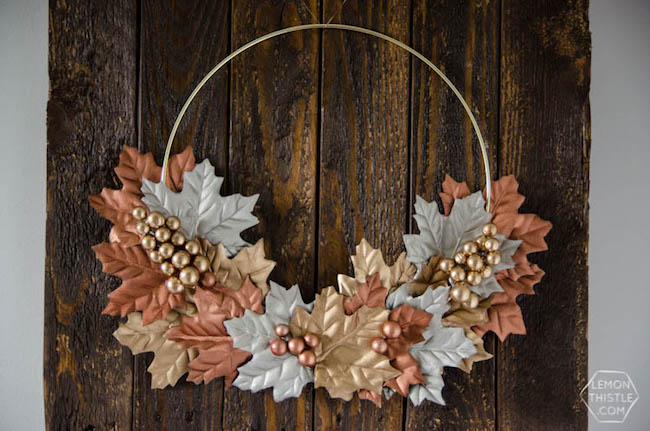 DIY Fall Metallic wreath - I adore this!