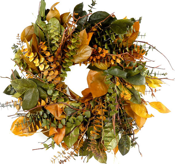 This Preserved Eucalyptus Wreath is so beautiful for fall!