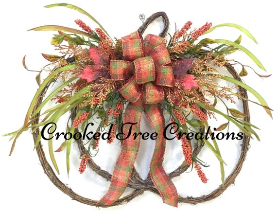 Autumn Harvest Pumpkin Wreath