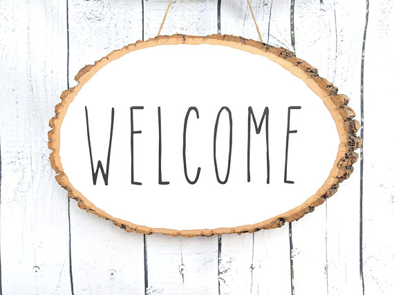 Rae Dunn Welcome Fall Door Sign