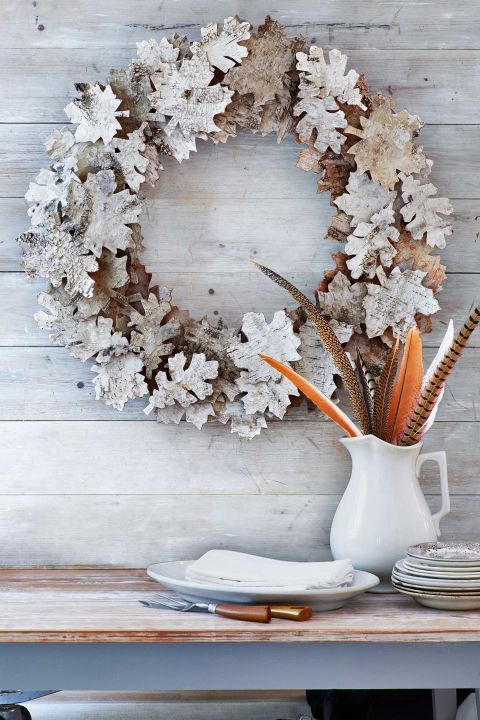 Beautiful Birch Wreath is perfect for fall!