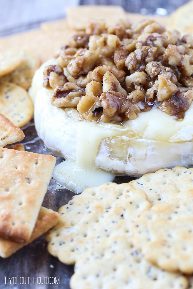 Baked Brie with Maple Glazed Walnuts - this is an AMAZING appetizer!!!