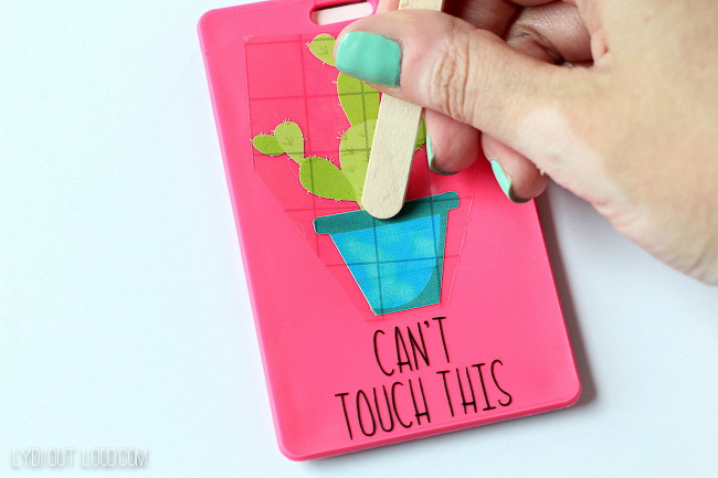 Apply letters and designs with Cricut transfer tape for perfect application.
