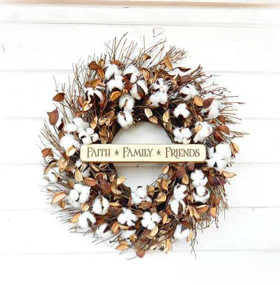 Faith, Family and Friends Fall Wreath