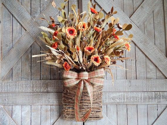 Fall Door Hanging Basket