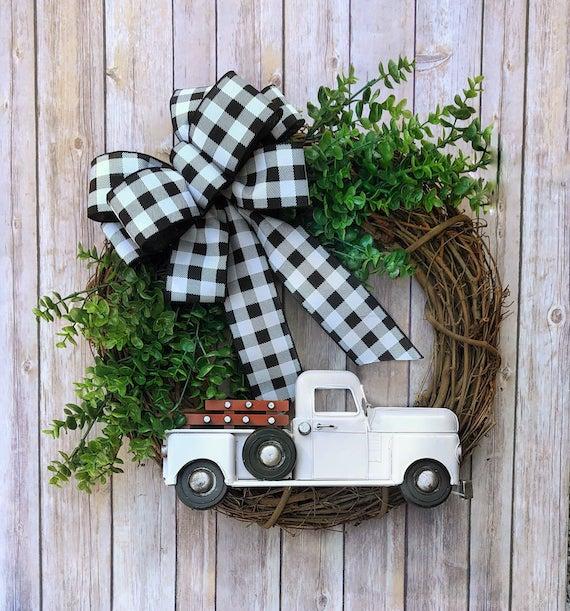 Farmhouse Truck Wreath