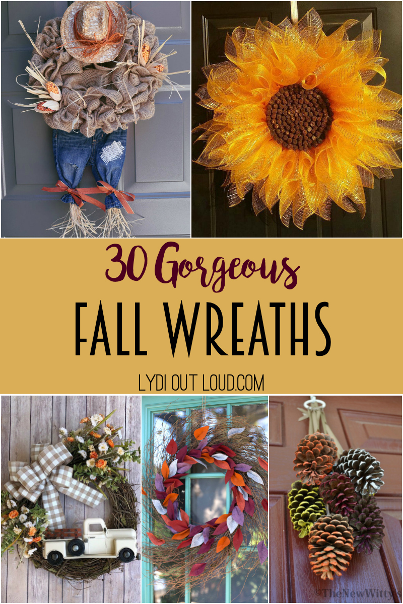 30 Gorgeous Fall Wreaths Lydi Out Loud
