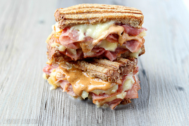 This Ham & Gruyere Panini is the best sandwich - a little spicy and a little sweet.