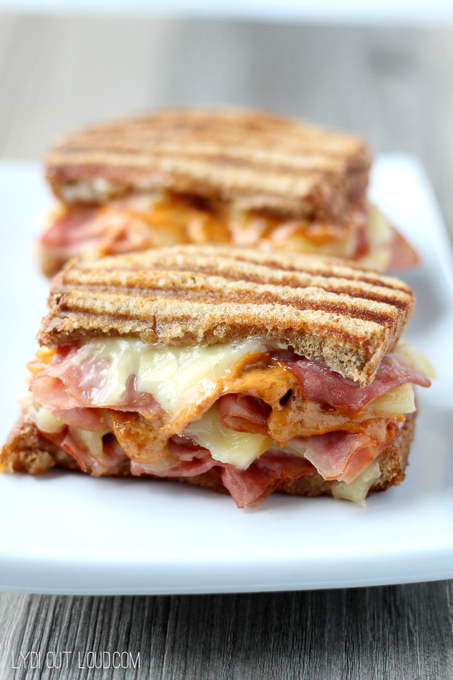 Sweet and Spicy Ham & Gruyere Panini - so delicious!!!