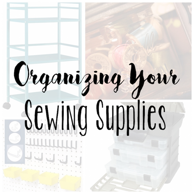 What great organizing hacks for sewing supplies!