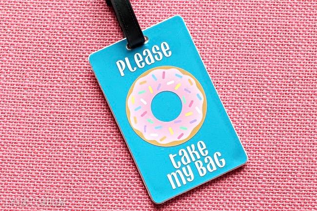 Please Donut Take My Bag DIY Luggage Tag