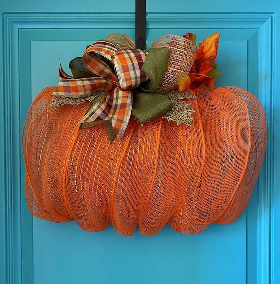 Mesh Pumpkin Wreath