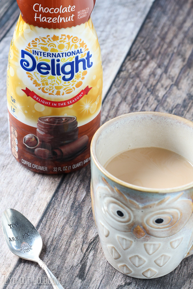 International Delight has the best fall flavors - this Chocolate Hazelnut is one of my new favs.