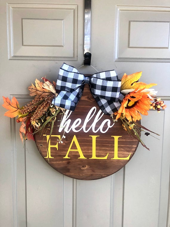 Wood Slice Fall Door Hanging