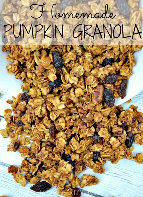Homemade Pumpkin Granola - yummy!