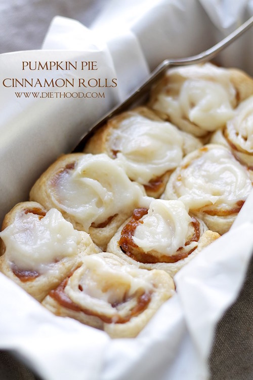 Pumpkin Pie Cinnamon Rolls - oh my this sounds amazing!