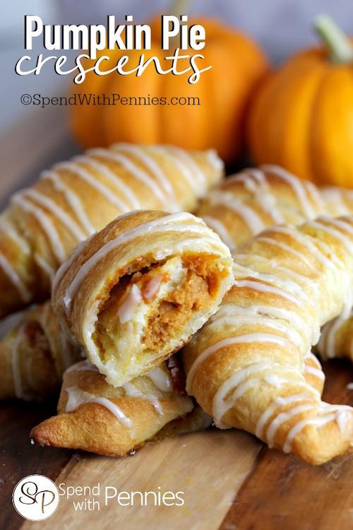 Pumpkin Pie Crescents - so easy and delicious!