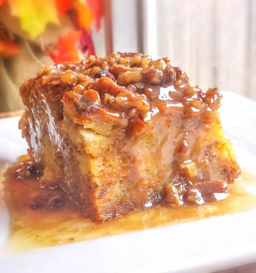 Pumpkin Praline Bread Pudding - this looks amazing!