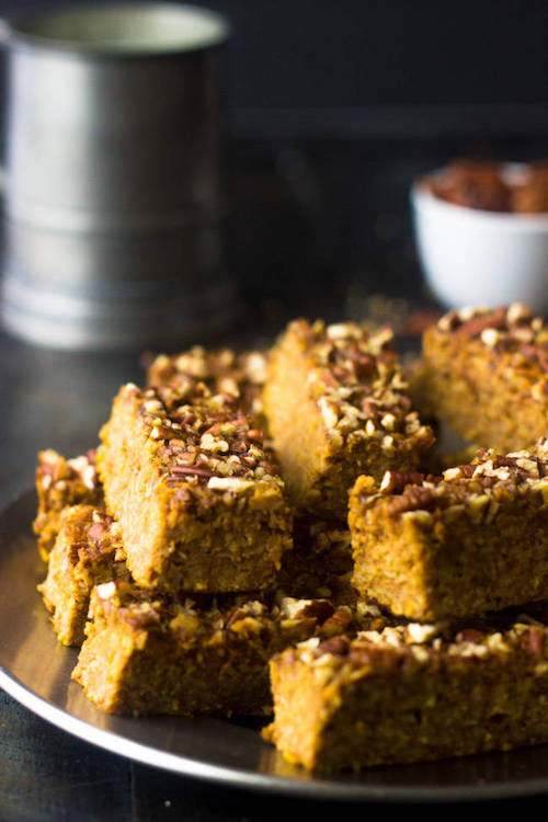 Delicious Pumpkin Protein Bars!