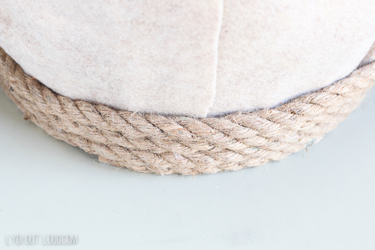 Layering rope for a laundry basket makeover