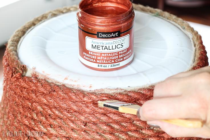 DIY Metallic Rope Basket