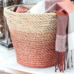 DIY Rope Basket for blanket storage