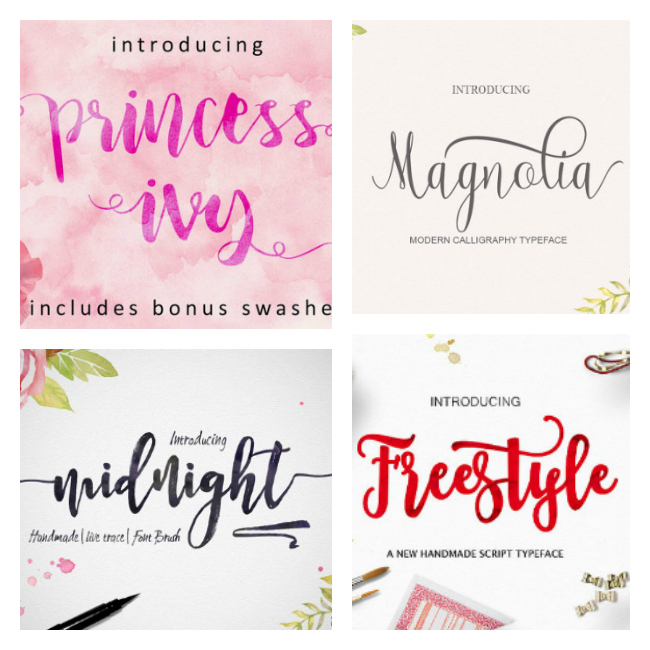 I'm a font freak and these ones are so reasonable! Love her etsy shop!