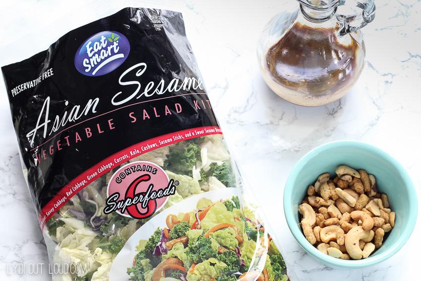 Honey Ginger Sesame Chicken Salad