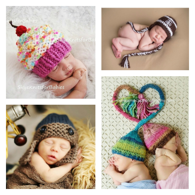 I can't take the cuteness of these knit baby caps! Sooooo adorable!