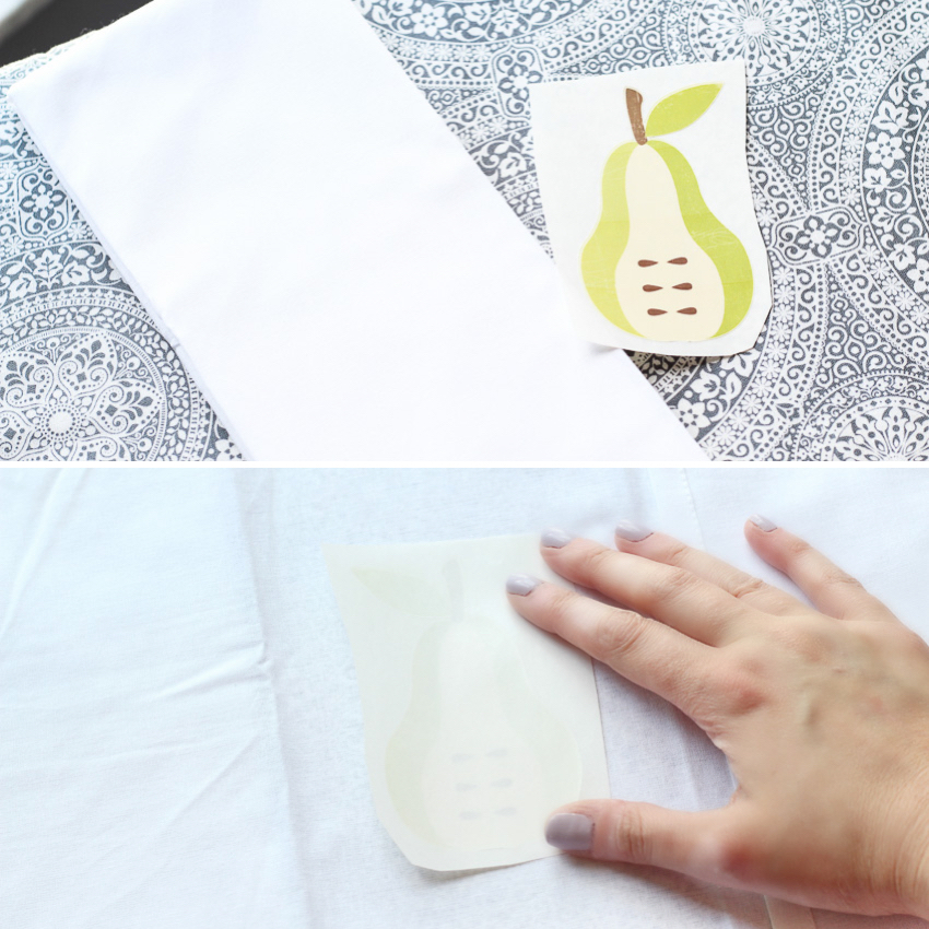 Iron on DIY Kitchen Towels with Cricut