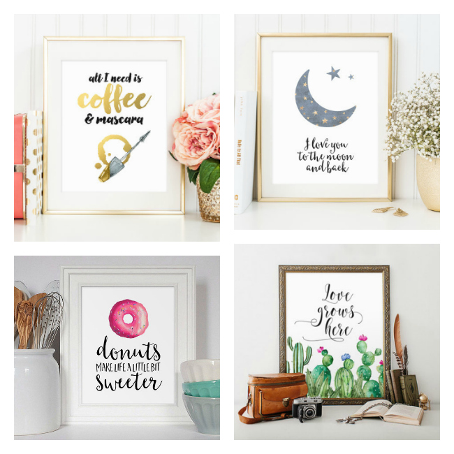 Beautiful printable art work from etsy.