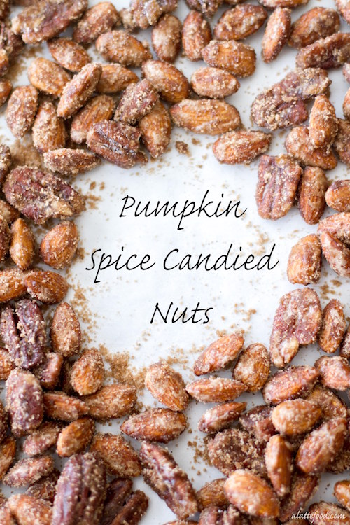 Pumpkin Spice Candied Nuts - yum!