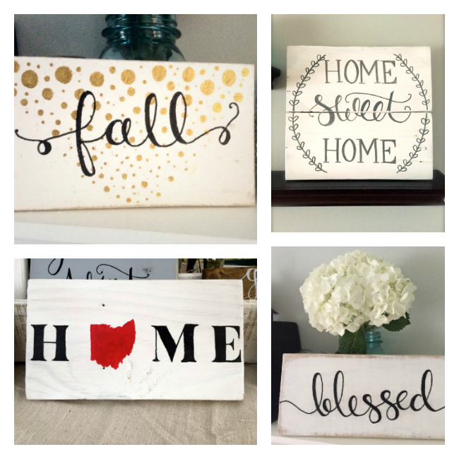 Beautiful rustic palette signs from etsy