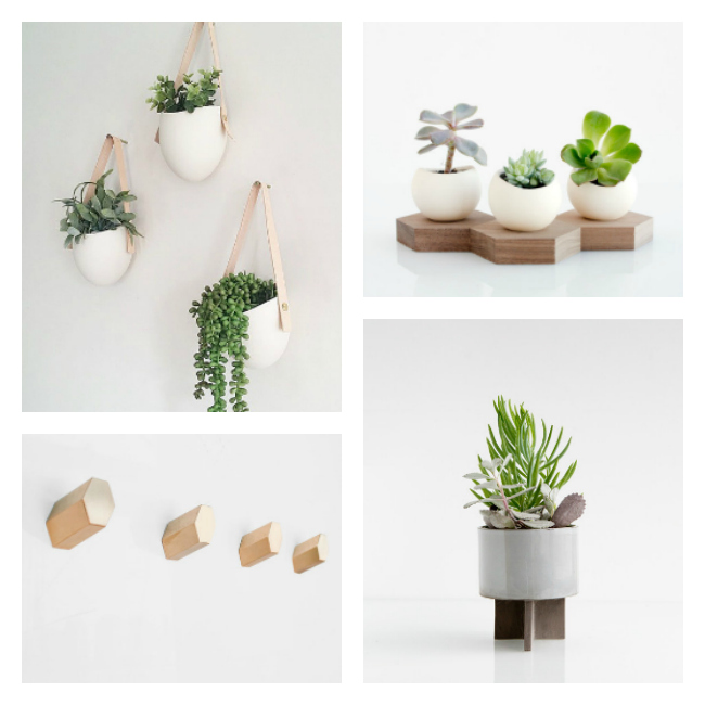 Such beautiful and unique succulent planters from etsy!