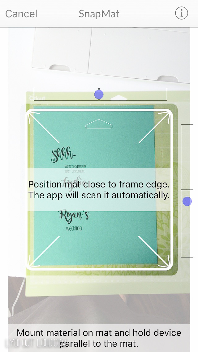 SnapMat in Cricut Design Space App