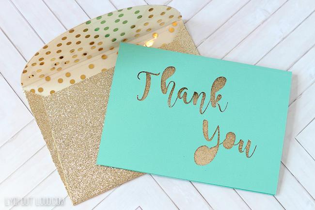 DIY Thank You Card & Envelope