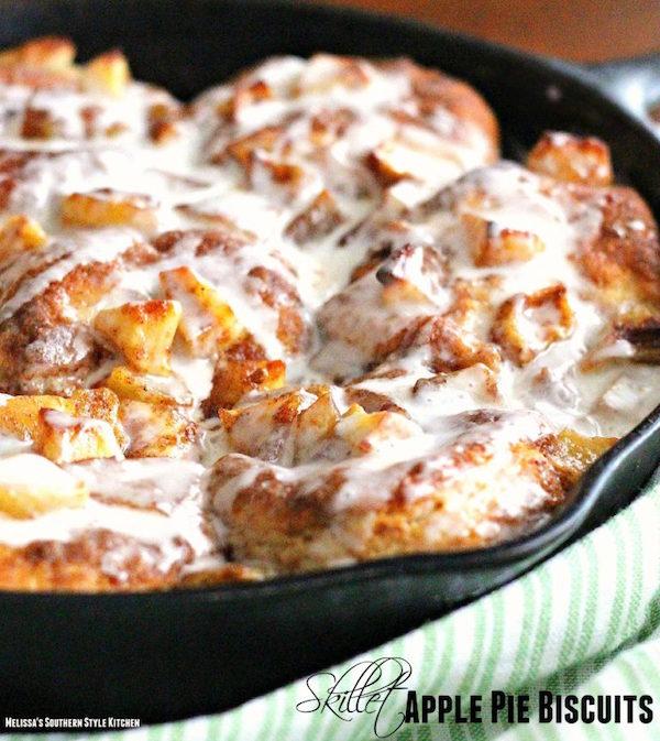 Yum! Skillet Apple Pie Biscuits