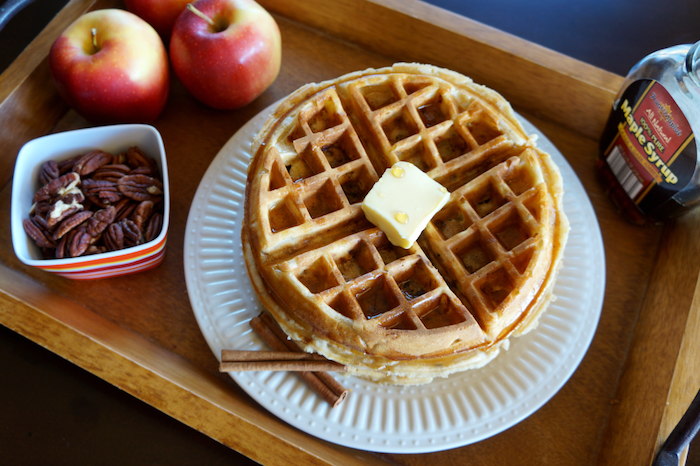 Apple Pie Waffles?! Sign me up!