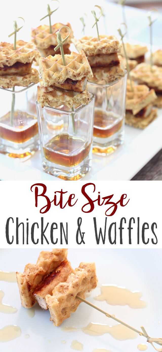 Chicken and Waffles Appetizer - so convenient and delicious!
