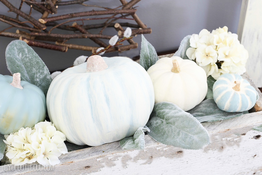 DIY Chalky Decorative Pumpkins