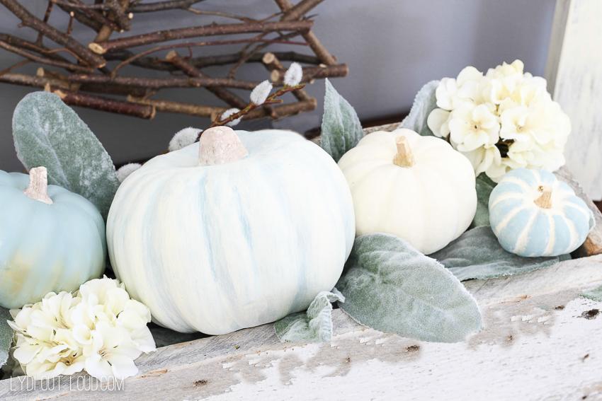 DIY Chalky Decorative Pumpkins