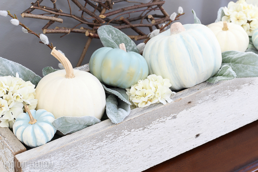 These DIY Decorative Pumpkins are so easy to make and make beautiful fall decor!